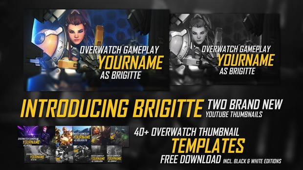 Overwatch | Thumbnail Template (incl, Moira)