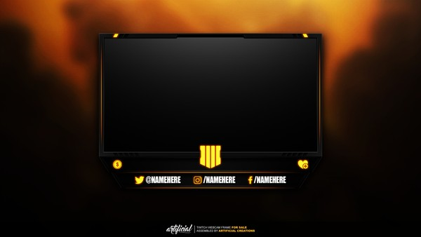 Black Ops 4 | Livestream Facecam Template