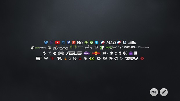 Social Icons Pack | Photoshop Template