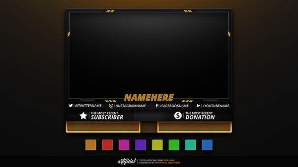 Colorized | Livestream Facecam Template