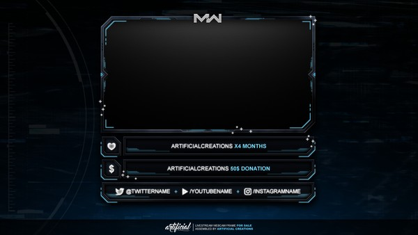 COD: Modern Warfare | Livestream Facecam Template