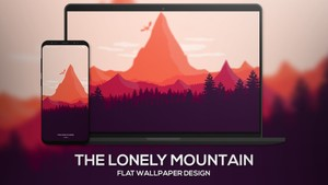 The Lonely Mountain Wallpaper Artificialcreations