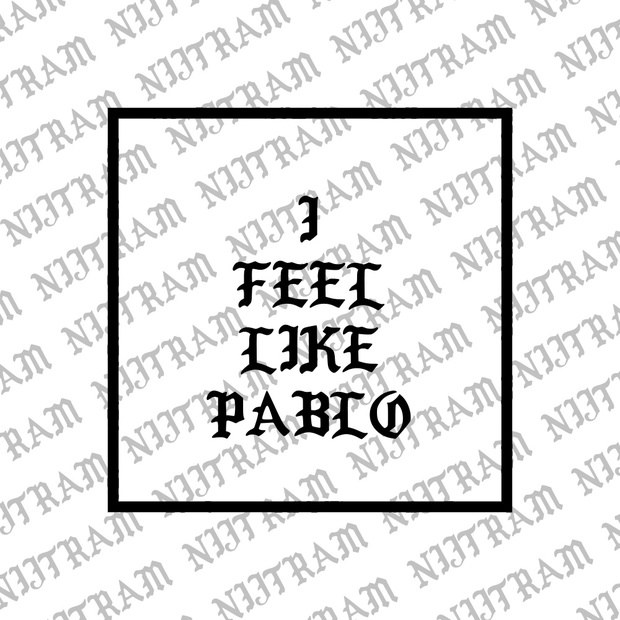 I FEEL LIKE PABLO MERCH FONT