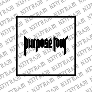 JUSTIN BIEBER PURPOSE TOUR FONT