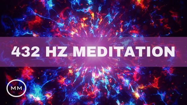 432 Hz Meditation - Cosmic Frequency - Increase Positive Vibrations -  Binaural Beats
