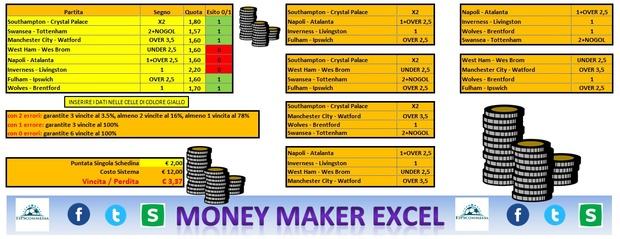 MONEY MAKER EXCEL (0-1-2 Errors)