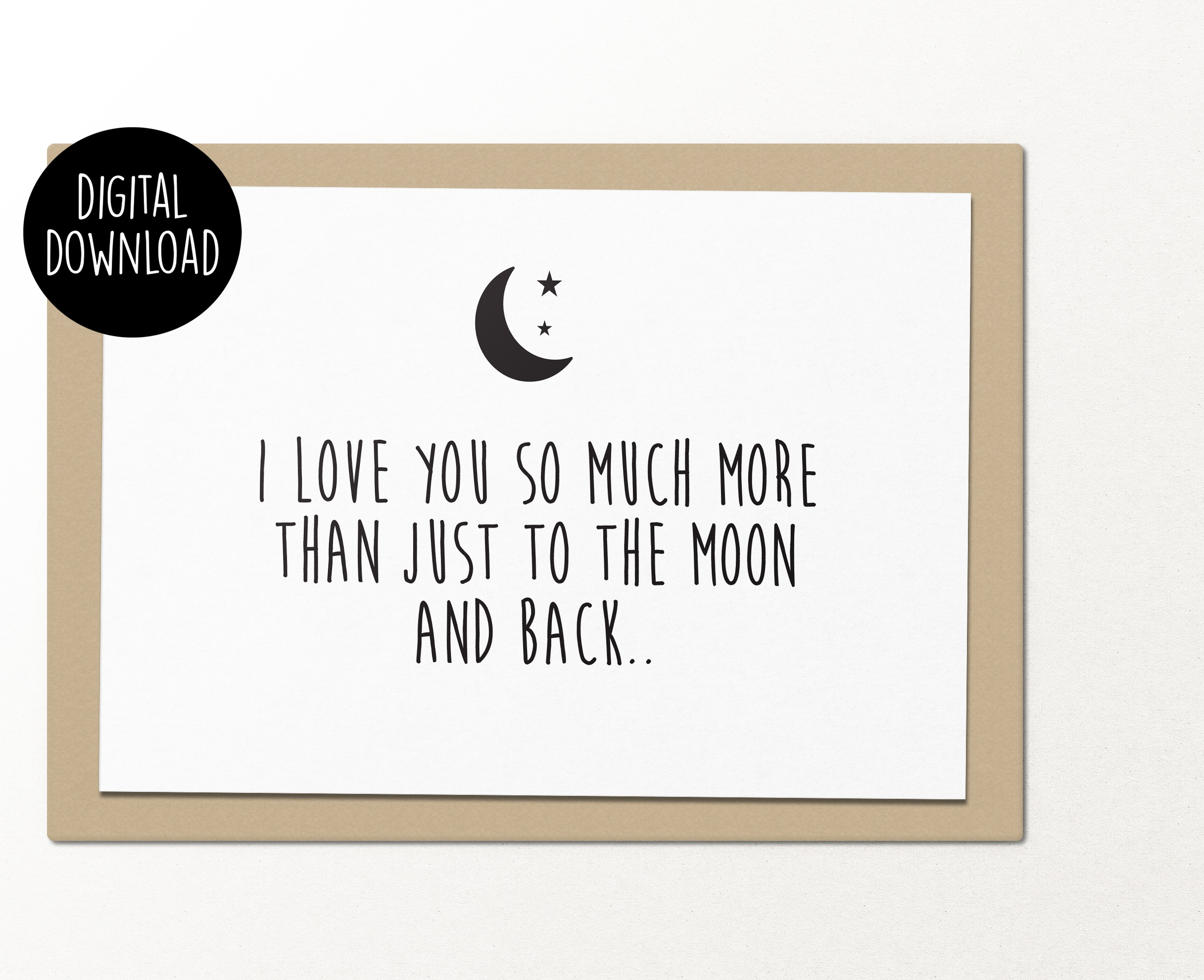 graphic regarding I Love You Printable identify I delight in oneself as a result substantially further than only in direction of the moon and again printable greeting card