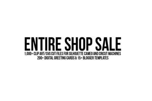 entire shop sale clip art svg cards