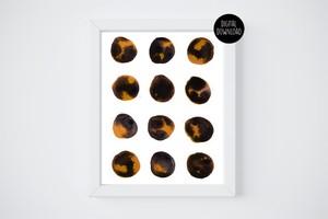 black and orange watercolor circles painting // 8x10 // printable digital download