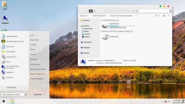 macOS High Sierra ThemePack for Win 7/8.1/10RS3