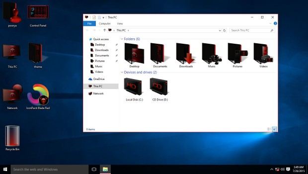 Blade Red IconPack