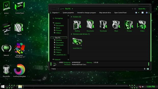 Aliengreen IconPack