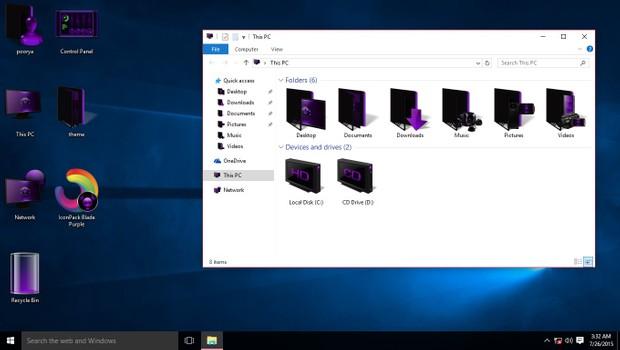 Blade Purple IconPack