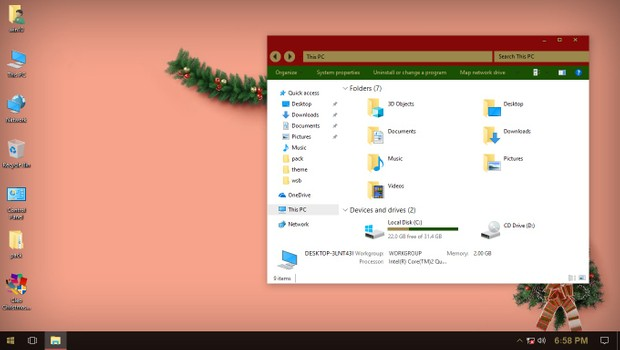 Cleo Christmas ThemePack for Win 10RS3