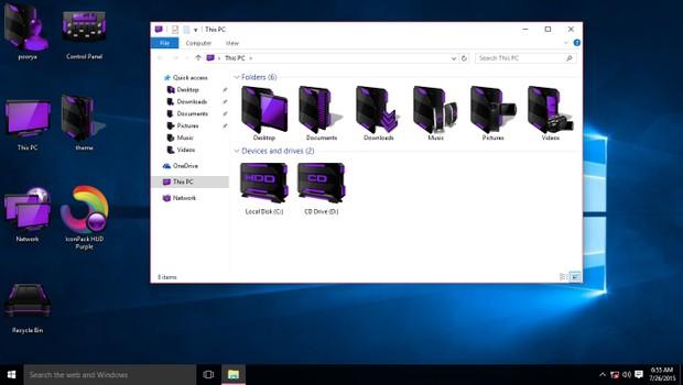 HUD Purple IconPack