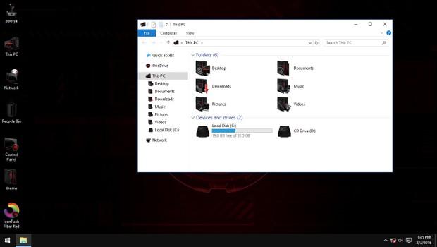 Fiber Red IconPack