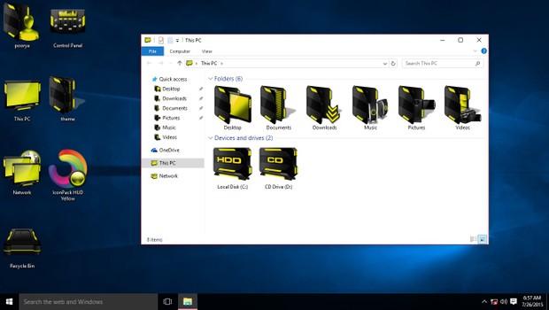 HUD Yellow IconPack