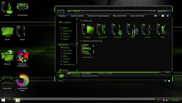 HUD Green IconPack