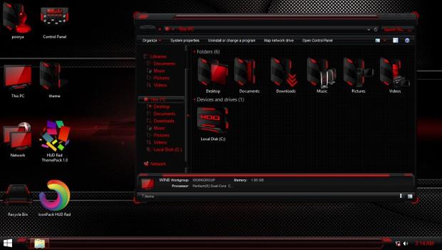 HUD Red IconPack