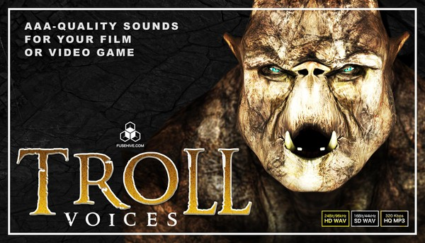 FANTASY CAVE TROLL VOICES - Medieval Myth Middle Earth Monster Creatures Voice Over Samples Library