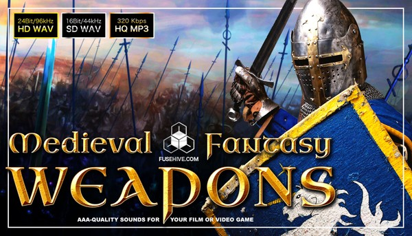 MEDIEVAL FANTASY WEAPONS & SIEGE ENGINE SOUND EFFECTS LIBRARY Sword Bow Arrow Trebuchet Catapult SFX