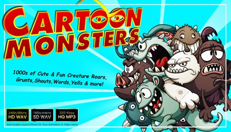 CARTOON MONSTERS - Cute Fun Silly Creature Character Voices Samples - Comedy Sound Effects Library