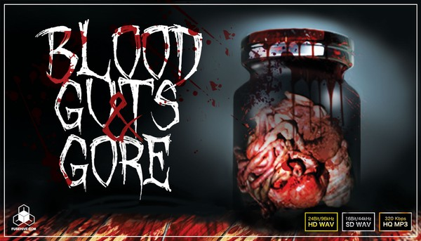 BLOOD GUTS & GORE Sound Effects Library – Horror Flesh & Bone Cutting & Human Torture Sounds