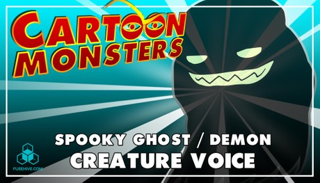 Spooky Ghost / Demon - Modern Cartoon Creature - Royalty Free Voice Samples Library [Animation SFX]