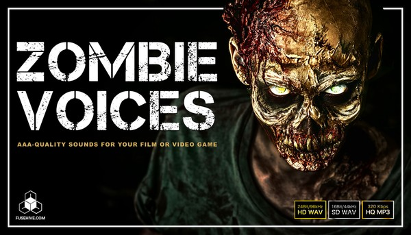 ZOMBIE VOICE SAMPLES - Creepy Horror Game Character Voices - Humanoid Monster Sound Effects Library
