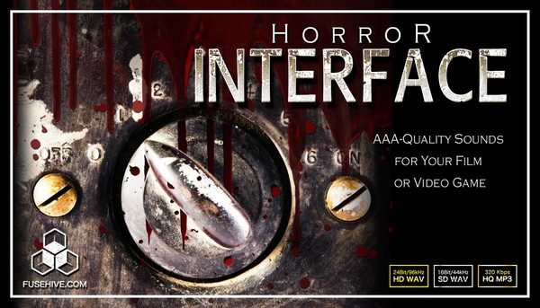 HORROR USER INTERFACE SOUND EFFECTS LIBRARY - Spooky Creepy Evil UI Menu Sounds Game Audio Pack