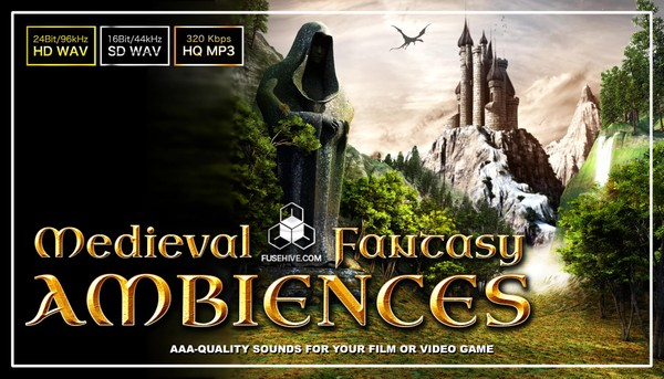 FANTASY MEDIEVAL AMBIENCES - Background Environment & Soundscapes Royalty Free Sound Effects Library