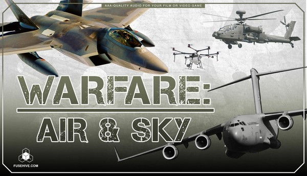 Military Jets, Planes, Helicopters Sound Effects Library - Air Force Warfare Vehicles MINI PACK