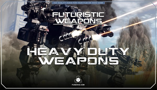 Futuristic Sci-Fi Heavy Duty Weapons Sound Effects Library - Science Fiction War Sounds MINI PACK