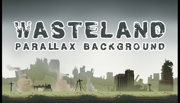 WASTELAND - PARALLAX CITY BACKGROUND for games