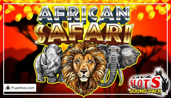 African Safari Casino Slot Game Music & Sound Effects Library - Wild Animals Savanna Slots SFX Pack