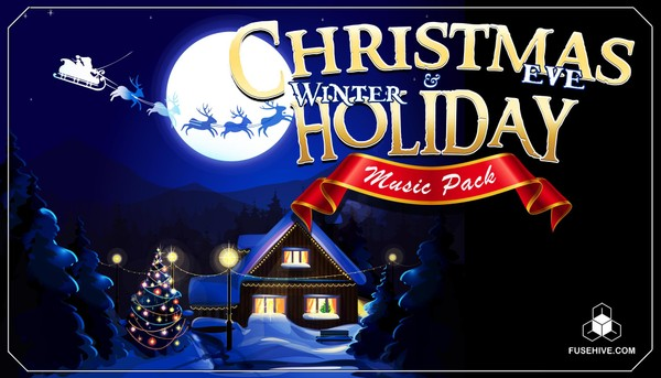 CHRISTMAS EVE & WINTER HOLIDAY MUSIC PACK – Festive Classics & Modern Jingles, Loops and Stings