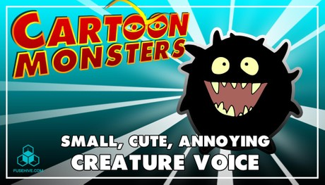 Small, Cute, Annoying, Modern Cartoon Creature - Royalty Free Voice Samples Library [Animation SFX]