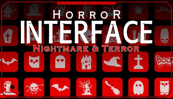 Nightmare & Terror User Interface Sound Effects Library - Horror UI Royalty Free Scary MINI PACK