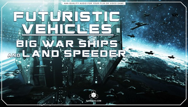 Futuristic Big Space Ships, Speeder Motorbike Sound Effects Library - Spaceship Vehicles MINI PACK