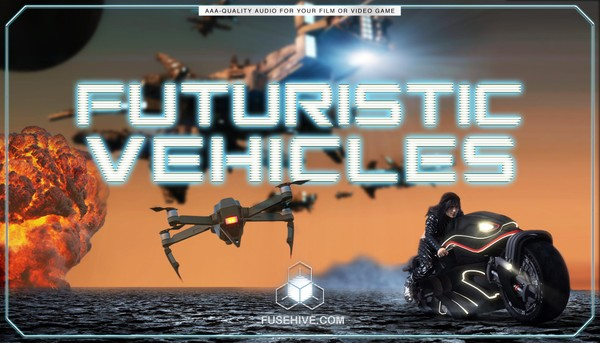 Sci Fi Futuristic War Vehicles Sound Effects Library - Spaceships Shuttles Fighters Space Stations