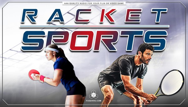 TENNIS & RACKET SPORTS SOUND EFFECTS LIBRARY and VOICE OVERS – Squash Badminton Royalty Free Sounds