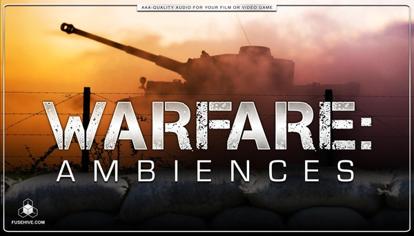 WARFARE AMBIENCES Sound Effects Library - Army Combat Battlefield Weapon War Background Environment