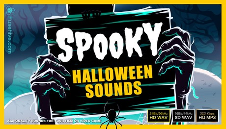 SPOOKY HALLOWEEN SOUND EFFECTS LIBRARY - Scary Horror & Creepy Sounds Ambiences Voice Over & Foley