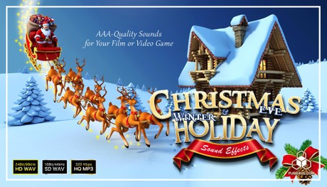 Christmas Eve & Winter Holiday Sound Effects Library - Magic Snow Theme Royalty Free SFX Audio Pack