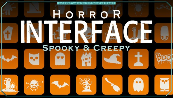 Spooky & Creepy User Interface Sound Effects Library - Horror UI Royalty Free Scary Sounds MINI PACK