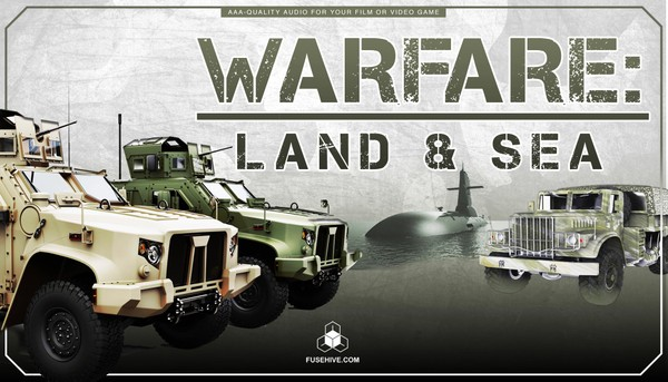 Military Jeeps, Trucks, Ships, Submarines Sound Effects Library - Land & Sea War Vehicles MINI PACK