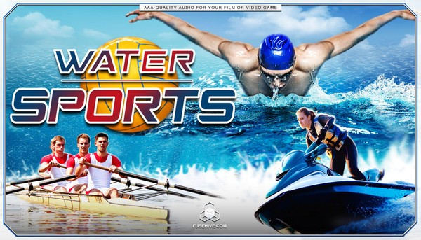SWIMMING, DIVING, WATER SPORTS SOUND EFFECTS LIBRARY – Water Polo Ski Sailing Boat Rowing SFX