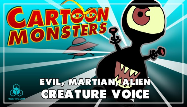 Evil Martian / Alien, Modern Cartoon Creature - Royalty Free Voice Samples Library [Animation SFX]