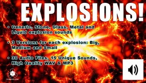 EXPLOSION SOUNDS - Glass, Stone, Metal, Liquid and Generic