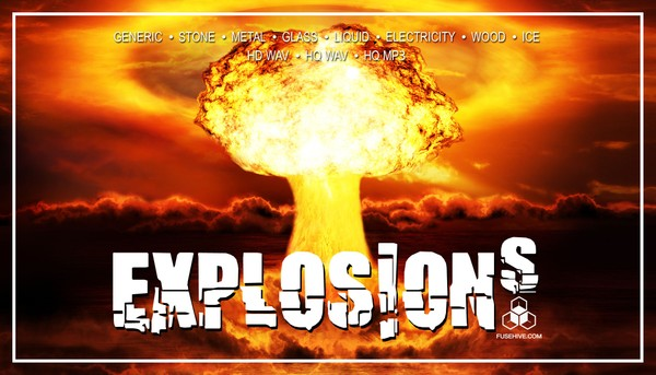 AAA CINEMATIC EXPLOSIONS SOUND EFFECTS LIBRARY - Various Materials Bursts & Shattering Sounds